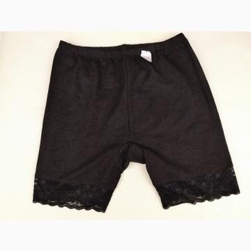 Панталоны женские с кружевом (чёрные)